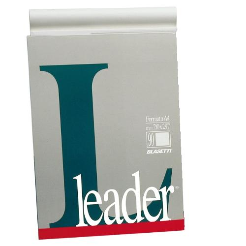 Blasetti Block Notes A4 Fogli Bia. LEADER 1109 Block-Notes collato formato A4 fogli bianchi