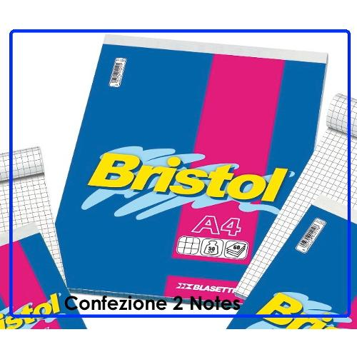 Blasetti Conf. 2 Block Notes A4 BRISTOL 1058 Conf. 2 block-notes punto metallico formato A4 quadrettati 5,0 mm