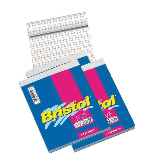 Blasetti Conf. 4 Block Notes A6 BRISTOL 1056 Conf. 4 block-notes punto metallico formato A6 quadrettati 5,0 mm