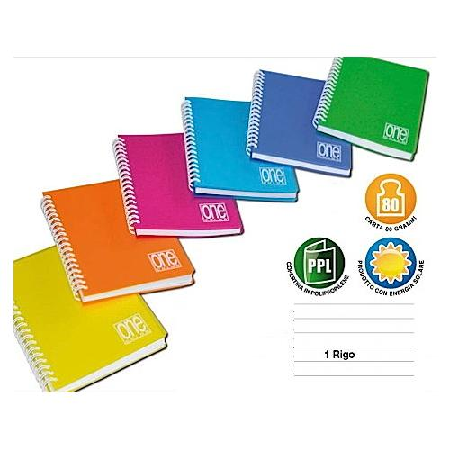 Blasetti Block Notes A6 Qua.ONCOLRig.Sp.5459 Mini Quaderno blocco spiralato A6 rigatura 1R mm colori assortiti