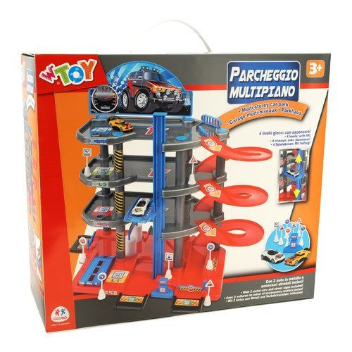 Piste e playset for 4 piani di casa auto garage