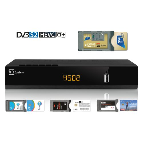 TELESYSTEM 21005258 Decoder Satellitare CI+ HD HEVC - Videoregistratore e Media player