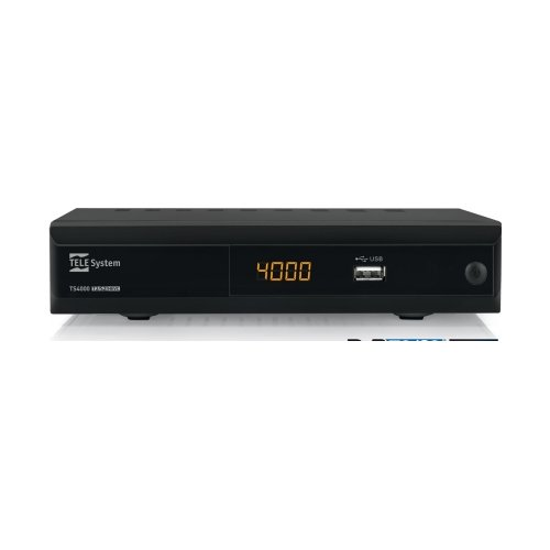TELESYSTEM 21005234 TS4000 Decoder DVB-T2/S2 H.265, Videoregistratore e Media player - Lista unica dei canali digitali terrestri e satellitari