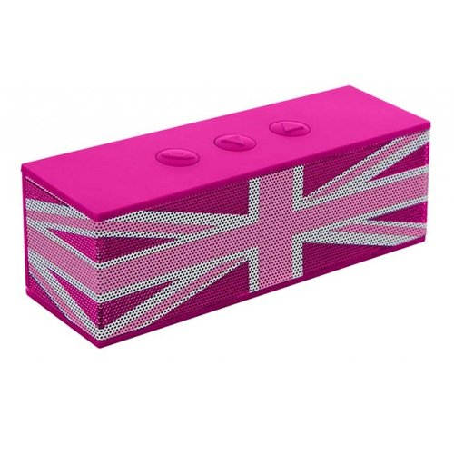 "Big Ben Mini Box BT01GBGIRLY UJack Pink BT 3w Bluetooth speaker ""Union Jack"" (Pink)"